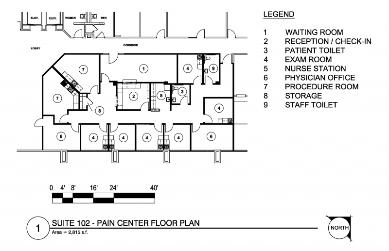 Sparks medical office building j r romero architect for House plans with separate office entrance