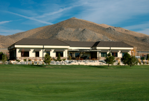 View of building from 17th fairway of Silver Oak Golf Course. (Photograph by Gypsy Dog Imagery)